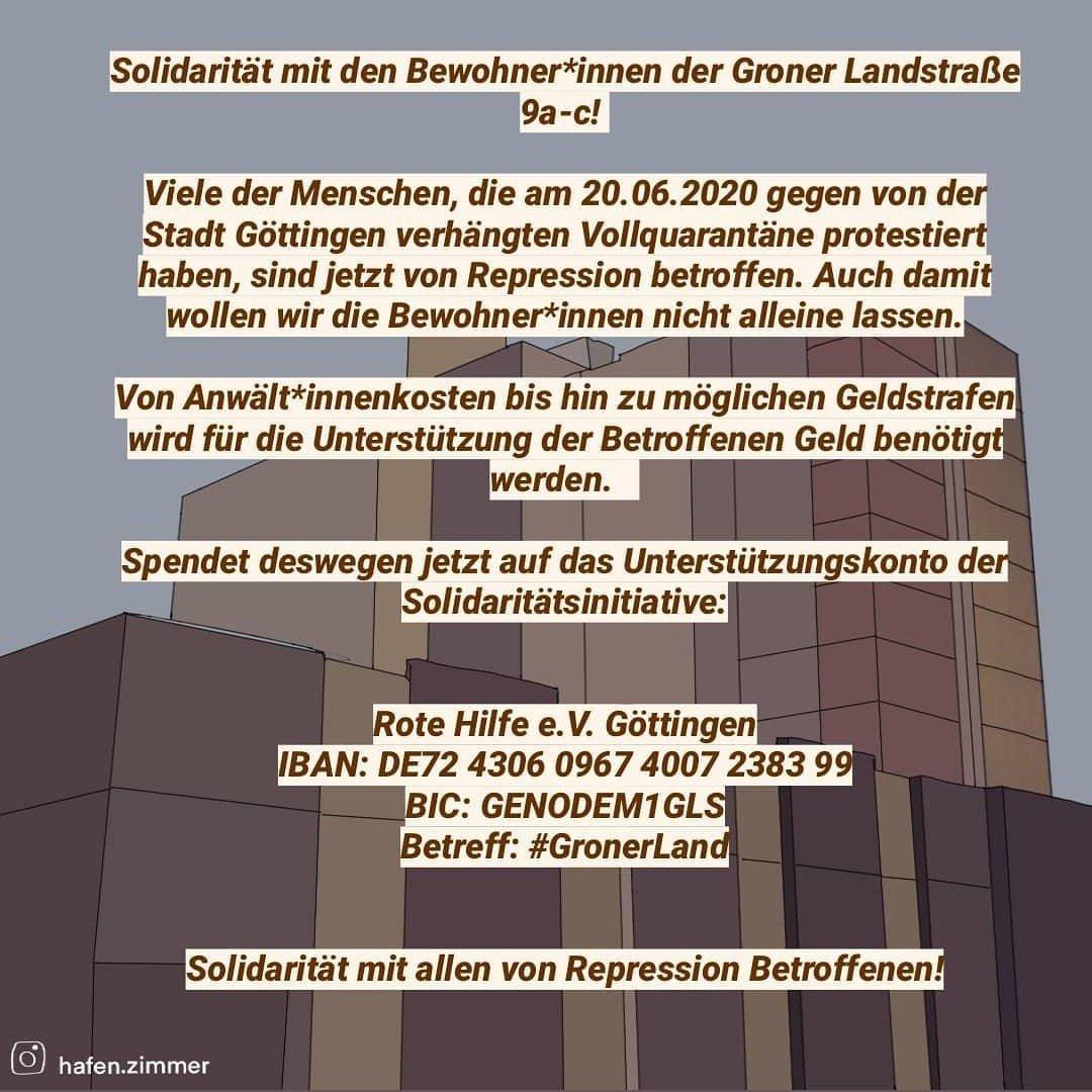 Solidarität mit den Bewohner*innen der Groner Landstraße 9a-c!